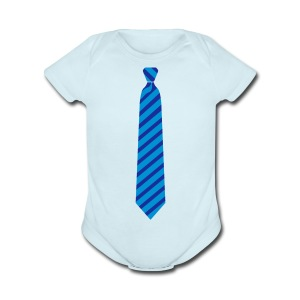 Kids Neck Tie Tee - Short Sleeve Baby Bodysuit