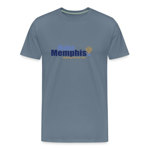 Men's Light Blue / Multi Logo T-Shirt - Men's Premium T-Shirt