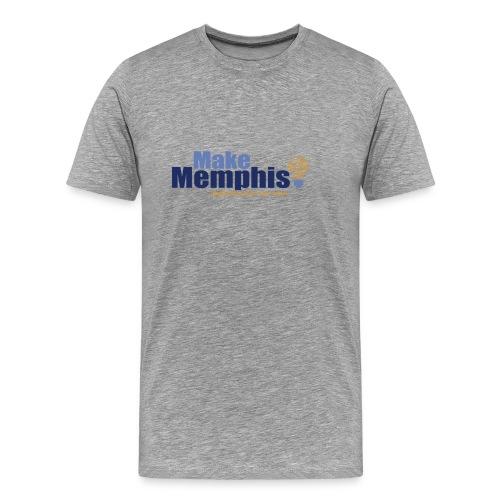 Men's Gray / Black Logo T-Shirt - Men's Premium T-Shirt
