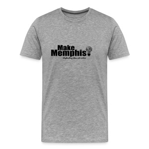 Men's Heather Grey Black Logo T-Shirt - Men's Premium T-Shirt