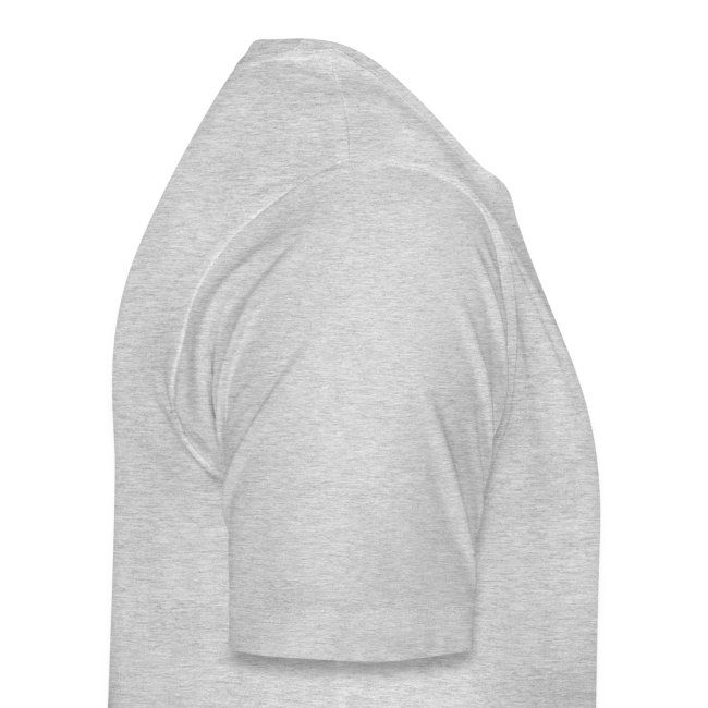 Men's Heather Grey Black Logo T-Shirt