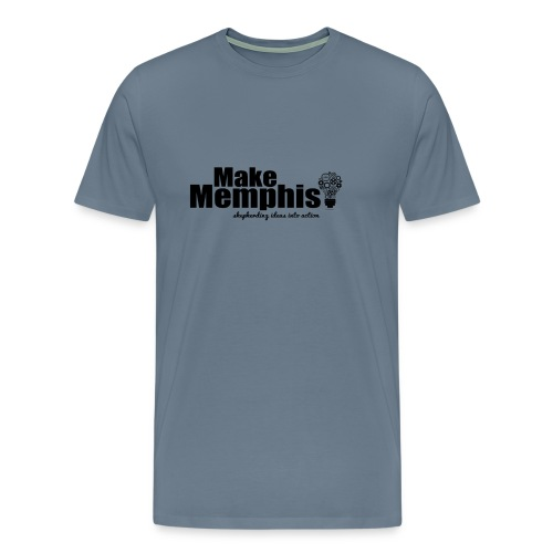 Men's Light Blue / Black Logo T-Shirt - Men's Premium T-Shirt