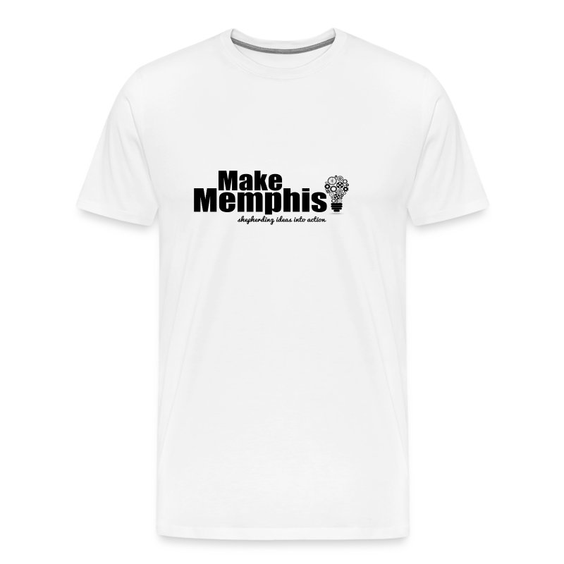 Men's White / Black Logo T-Shirt - Men's Premium T-Shirt