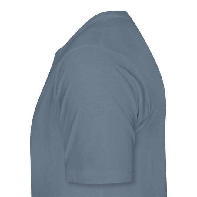 Men's Blue T-Shirt / White Logo