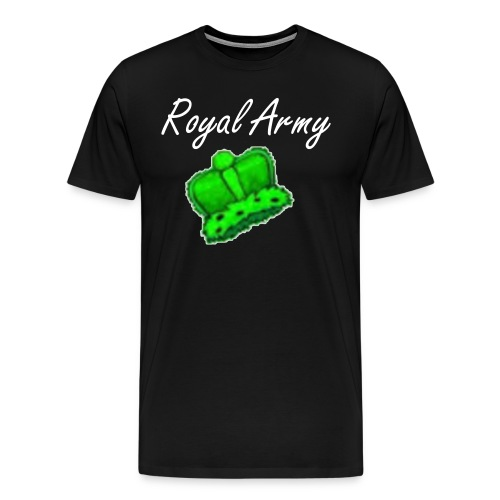 Royal Army W/ Green Logo - Men's Premium T-Shirt