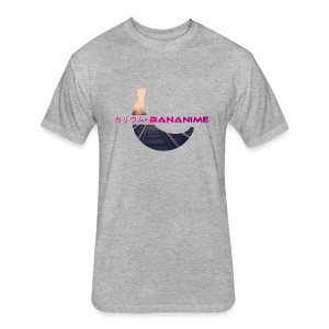 Bananime Mens - Fitted Cotton/Poly T-Shirt by Next Level