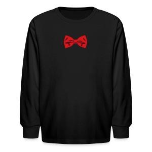 Bow Tie Tee Shirt 2 Color - Kids' Long Sleeve T-Shirt