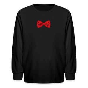 Bow Tie Tee Shirt 2 Color - Kids' Long Sleeve T-Shirt