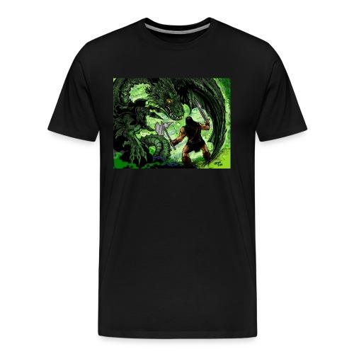 Futprnts Workshop man vs dragon Men's T-shirt - Men's Premium T-Shirt
