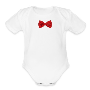 Bow Tie Tee Shirt 2 Color - Short Sleeve Baby Bodysuit
