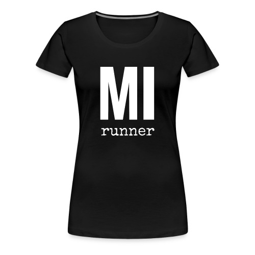 MI Runner (State Sleeve) - Women's Premium T-Shirt
