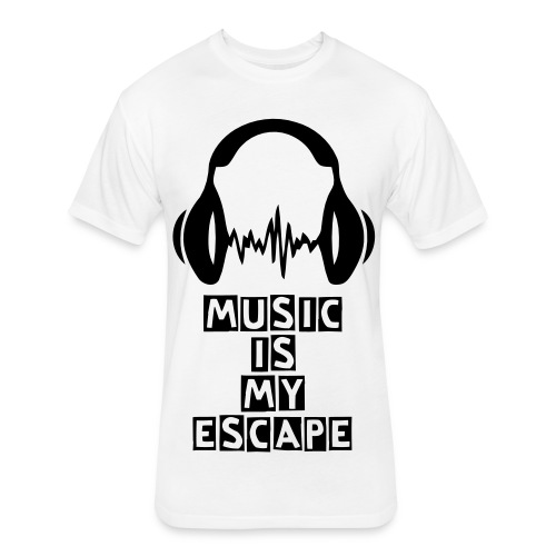 music is my escape - Fitted Cotton/Poly T-Shirt by Next Level