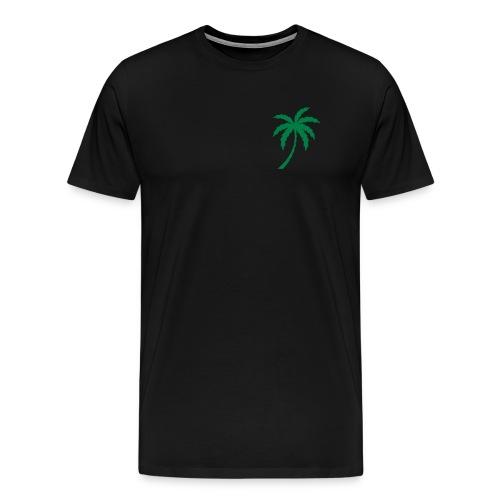 Palm Tree Tee, Black And Green - Men's Premium T-Shirt