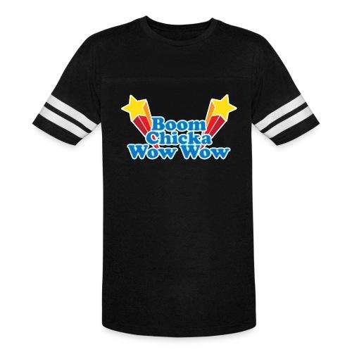 Boom Chicka Retro Ringer Tee - Vintage Sport T-Shirt