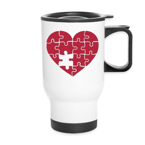Puzzle Heart - Travel Mug - Travel Mug