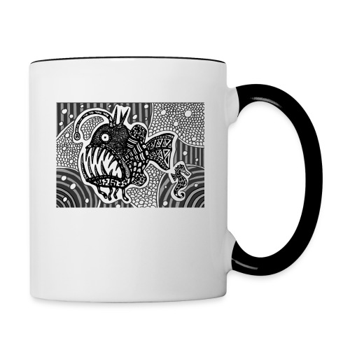 angler fish mug - Contrast Coffee Mug