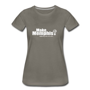 Women's Slate T-Shirt / White Logo - Women's Premium T-Shirt