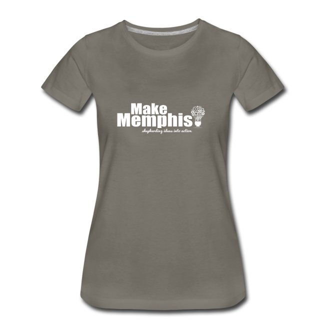 Women's Slate T-Shirt / White Logo