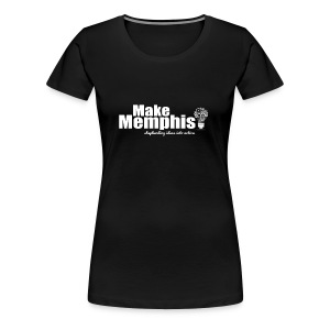 Women's Black T-Shirt / White Logo - Women's Premium T-Shirt