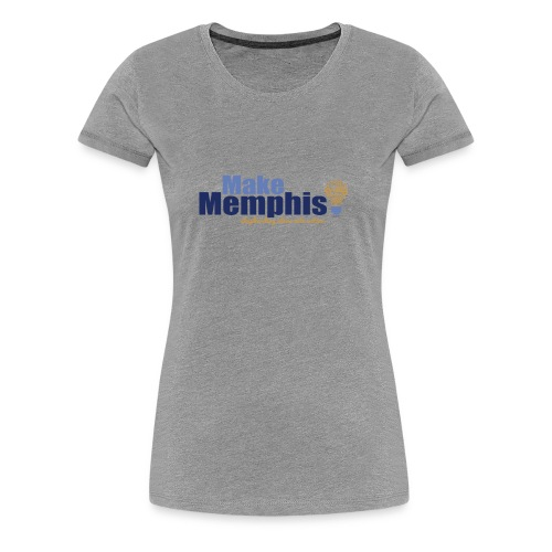 Women's Heather Grey T-Shirt / Multi Logo - Women's Premium T-Shirt