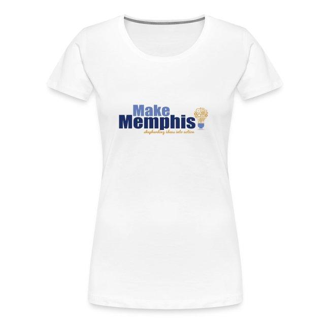 Women's White T-Shirt / Multi Logo