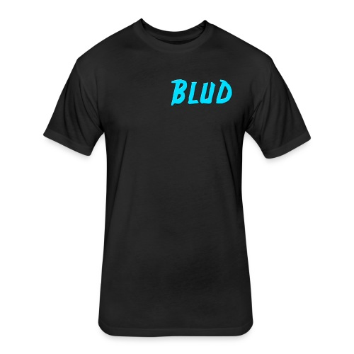 BluD LOGO Shirt - Fitted Cotton/Poly T-Shirt by Next Level