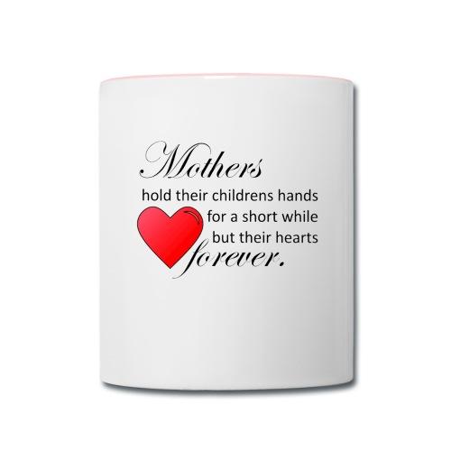 Mothers hold hearts Mug - Contrast Coffee Mug