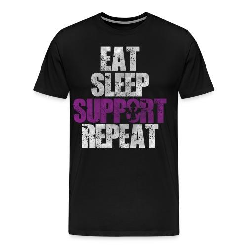 Eat Sleep Support Repeat - Men's Premium T-Shirt