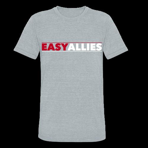 Gray Easy Allies Red Logo T-Shirt - Unisex Tri-Blend T-Shirt