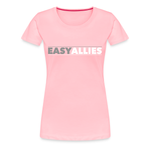 Pink Easy Allies Gray Logo T-Shirt! - Women's Premium T-Shirt