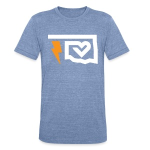 Thunder Love - Blue - Unisex Tri-Blend T-Shirt by American Apparel