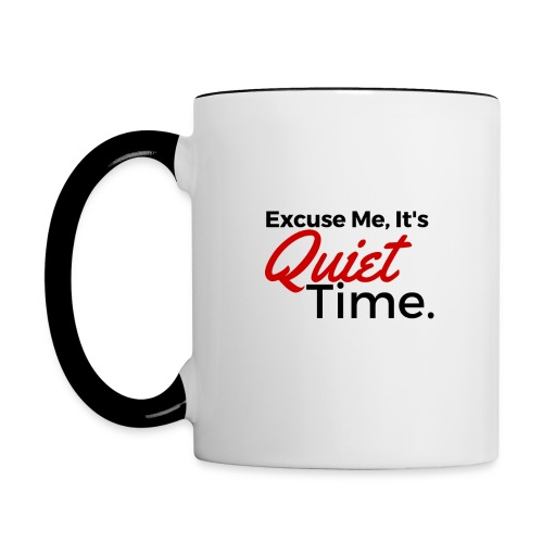Quiet Time Coffee or Tea Mug (Other Colors in Stock) - Contrast Coffee Mug