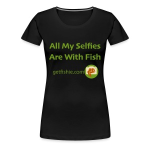 Women's GetFishie T-Shirt (green text) - Women's Premium T-Shirt