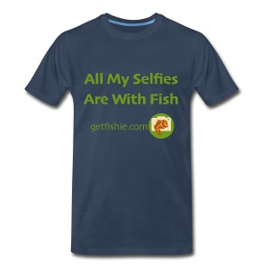 Men's GetFishie T-Shirt (green text) - Men's Premium T-Shirt