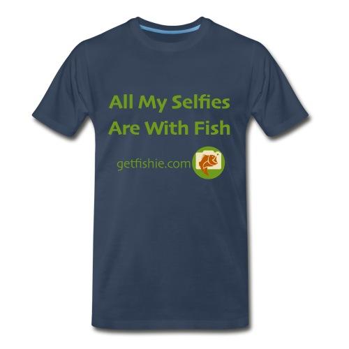 Men's GetFishie T-Shirt (green text) - Men's Premium T-Shirt