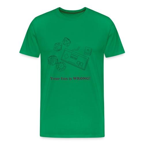 FunWrongGreenTee - Men's Premium T-Shirt