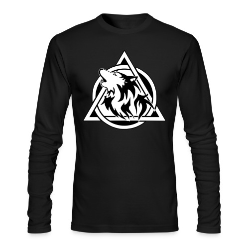 Men's Wolfy Jumper - Men's Long Sleeve T-Shirt by Next Level