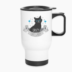 crazy cat lady banner Mugs & Drinkware