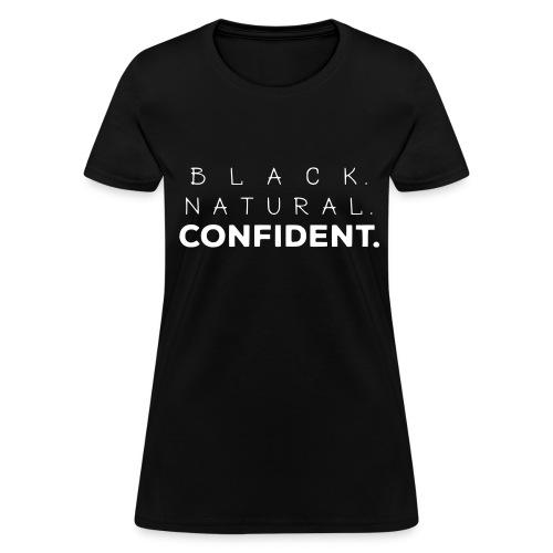 Black Natural Confident Black Tee - Women's T-Shirt