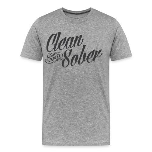 Men's Clean & Sober T - Men's Premium T-Shirt