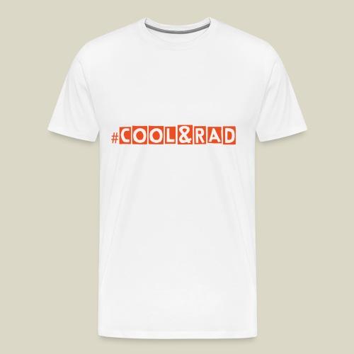 #COOL&RAD - Orange on White Men's Premium T-Shirt - Men's Premium T-Shirt