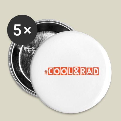 #Cool&Rad Large Button Pin - Large Buttons