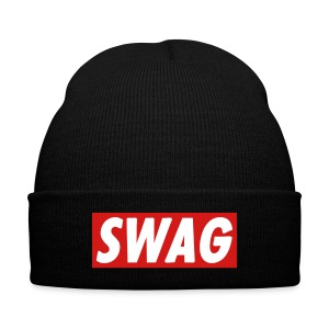 SWAG hat - Knit Cap with Cuff Print