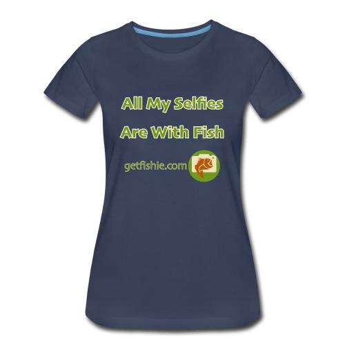 Women's GetFishie T-Shirt (bordered text) - Women's Premium T-Shirt