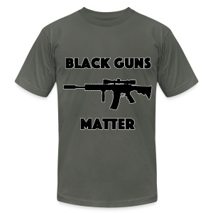 Black guns matter - Men's T-Shirt by American Apparel