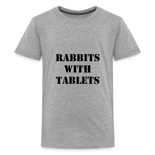 Rabbits With Tablets - Kids' Premium T-Shirt