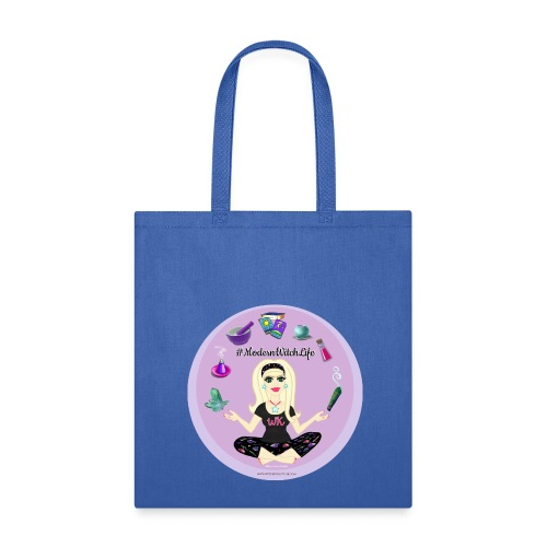 Allie Stars & Witchy Tools #ModernWitchLife - Canvas Tote Royal Blue - Tote Bag