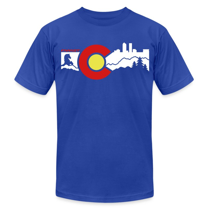 Men's AA Tee Denver Skyline - Men's T-Shirt by American Apparel
