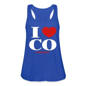 Women's Tank I Love CO - Women's Flowy Tank Top by Bella