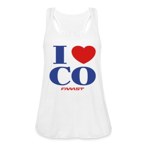 Women's Muscle Tank I Love CO - Women's Flowy Tank Top by Bella